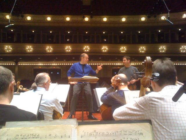 Gergiev rehearses LSO at Orchestra Hall